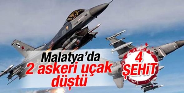 Malatya 7. Ana Jet Üssünden kalkan 2 askeri eğitim uçağı Akçadağ ilçesinde düştü. 4 pilot şehit oldu.