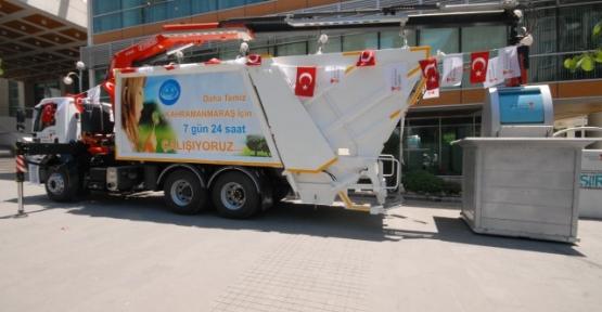 Belediyeden Yeraltı Çöp Toplama Makinası