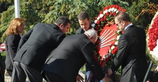 Chp, Add Ve İşçi Partisi Atatürk Anıtı'na Çelenk Bıraktı