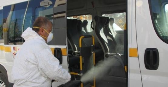 Çubuk'ta Toplu Taşıma Araçları İlaçlandı