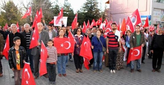 Nevşehir'de Cumhuriyet Yürüyüşü