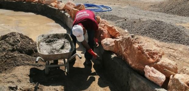 Pazarcık'taki park yapımı devam ediyor