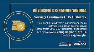 Büyükşehir'den Esnafa 1.375 TL'lik Destek