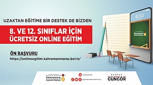 Büyükşehir'den Ücretsiz Çevrimiçi Eğitim