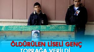 Kahramanmaraş'ın Göksun ilçesinde meydana gelen bıçaklı kavgada ölen lise öğrencisi Ömer Faruk Sümbül toprağa verildi.