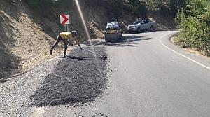 Karasu grup yolunda asfalt yama
