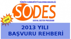 Sodes - 2013 Başvuru Rehberi