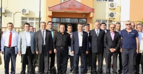 Vali Lekesiz, Kaymakamlar İle Erzin'de Buluştu