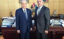 Kuzuculu Belediye Başkanı Yaşar Toksoy Bahçeli'yi Ziyaret Etti